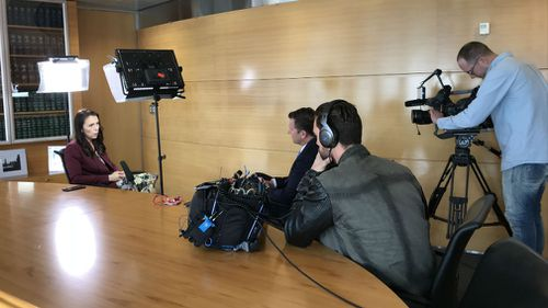Jacinda Ardern sat down with Steve Marshall for an interview on A Current Affair. (A Current Affair)