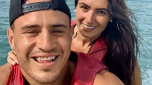 NRL star Josh Reynolds and his former girlfriend Arabella del Busso.