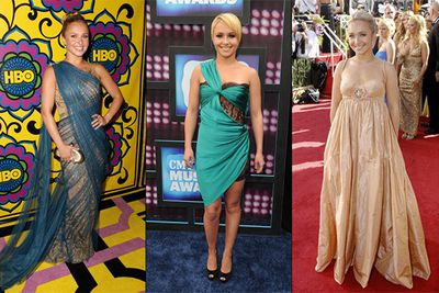 Remember the briefly successful show <i>Heroes</i>? Yeah, us neither. But it launched the career of young Hayden Panettiere and a string of questionable outfits, including the unforgettable frumpy fiasco from the 2007 Emmy Awards (right).