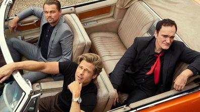 Quentin Tarantino, Brad Pitt, Leonardo DiCaprio