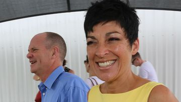 Queensland Premier Campbell Newman with his wife Lisa. (AAP)