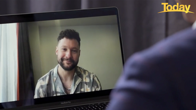Calum Scott got candid talking to Richard Wilkins on the Today Show.