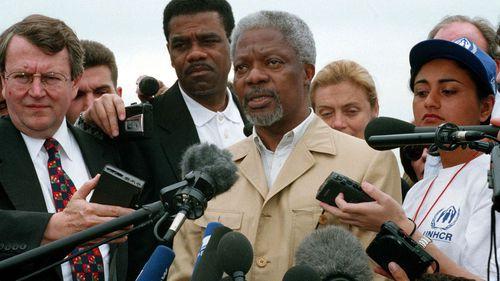 Annan always referred to himself as an optimist.