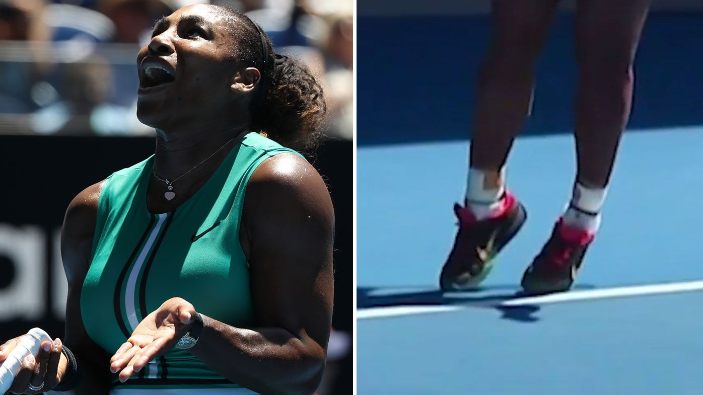 Serena Williams undone by foot fault