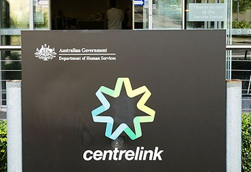 Centrelink sign and office (Getty)