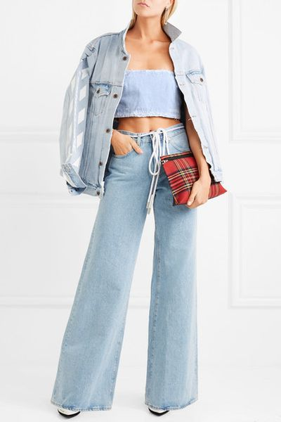 "<a href=""https://www.net-a-porter.com/au/en/product/1005707/Off_White/cropped-distressed-denim-bustier-top"" target=""_blank"" title=""Off-White Cropped Distressed Denim Bustier Top, $143.63"" draggable=""false"">Off-White Cropped Distressed Denim Bustier Top, $143.63</a>"