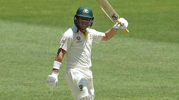 Harris clinches maiden Test half-century
