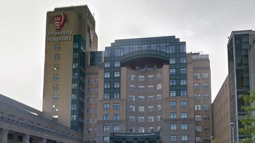 Officials at University Hospitals in Cleveland on Monday apologised for the mistake and said two employees have been placed on administrative leave.