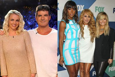 Britney replaced Paula on the second season of <i>The X Factor USA</i>. As expected, Britney left after the season, with record exec LA Reid also leaving remaining members Simon Cowell and Demi Lovato. Kelly Rowland and Mexican singer Paulina Rubio were brought in as reinforcements for season three (pictured). It was the final season...