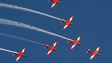 Royal Australian Air Force aerobatic display team (Getty)