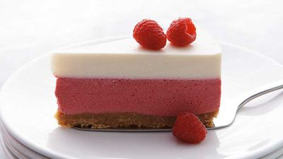 "<a href=""http://kitchen.nine.com.au/2016/12/15/12/43/neil-perrys-raspberry-and-yogurt-mousse-cake"" target=""_top"">Neil Perry's raspberry and yogurt mousse cake</a>"