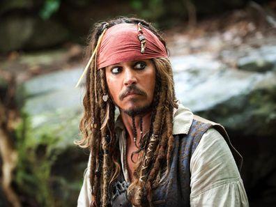 Johnny Depp, Captain Jack Sparrow, Pirates of the Caribbean movie