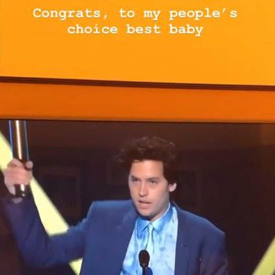 Cole Sprouse won a People's Choice Award for Dream Movie Star.