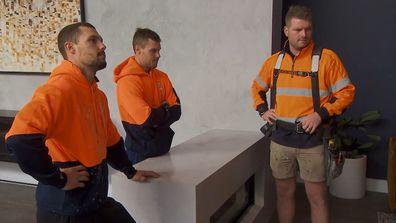 The Block 2021, Josh, Luke and their builder Ryan