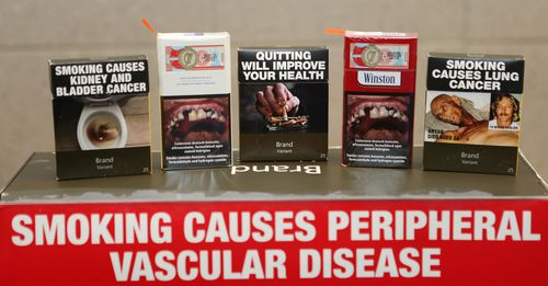 The current warnings on cigarette packets in Australia have been in place since 2012. Picture: AAP
