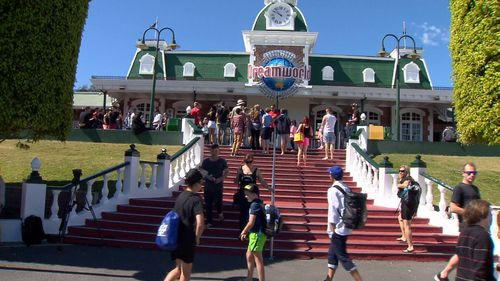 Dreamworld used to draw crowds. Picture: 9NEWS