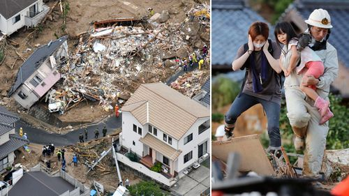 Survivors of the floods in western Japan have lost their homes and many of their possessions. (Photos: AP).