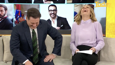 Karl and Ally burst out laughing at Piven's response.