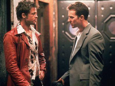 Brad Pitt and Edward Norton in the 1999 film, Fight Club.