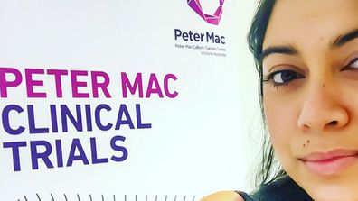 Sabrina was given a place on the trial for another medicine,  Lorlatinib, at Melbourne's Peter MacCallum Cancer Centre