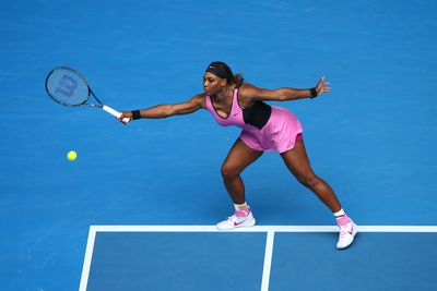 Serena rocked a hot pink getup on day four of the 2014 Australian Open.