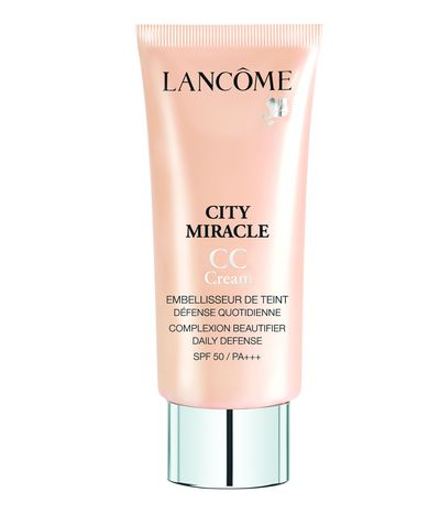 "<a href=""http://www.lancome.com.au/makeup/face/cc-creams/city-miracle-cc-cream/3605533151976.html"" target=""_blank"">Lancôme City Miracle CC Cream, $55.</a>"