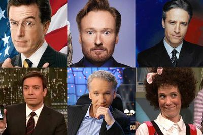 <i>The Colbert Report</i><br/><br/><i>Conan</i><br/><br/><i>The Daily Show With Jon Stewart</i><br/><br/><i>Late Night With Jimmy Fallon</i><br/><br/><i>Real Time With Bill Maher</i><br/><br/><i>Saturday Night Live</i>
