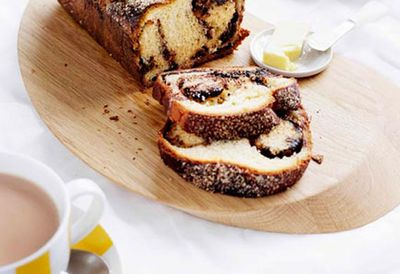 Chocolate and hazelnut babka
