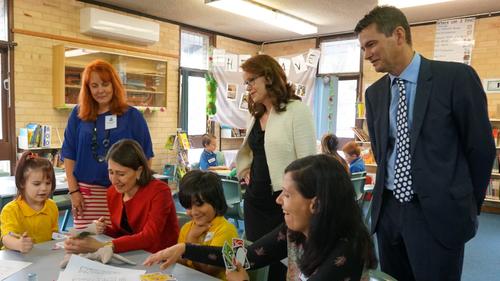 Willmot Public School students were joined by NSW Premier Gladys Berejiklian. (Twitter/The Smith Family)