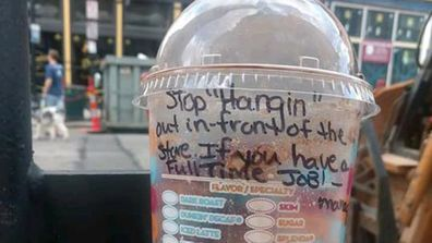 employee fired homeless note