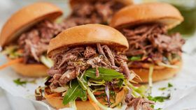 Pulled lamb sliders