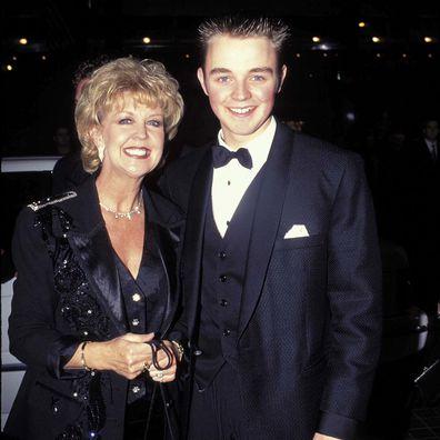 Matthew Newton poses with his mother Patti Newton in 1997.