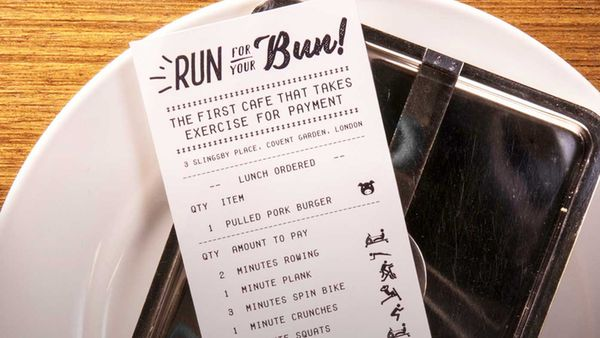 London cafe wants you to run for your food