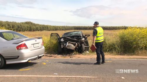 The head-on collision also injured another motorist, Gary Hall. (9NEWS)