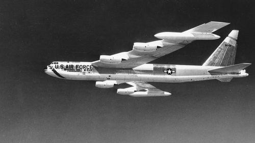 A 1957 photo of an Air Force B-52 jet bomber. (AP)