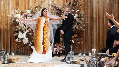 MAFS 2021 Season 8 Coco Sam wedding hotdog
