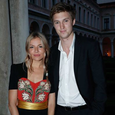 Sienna Miller and Lucas Zwirner attend the 58th International Art Biennale in Venice in May 2019.
