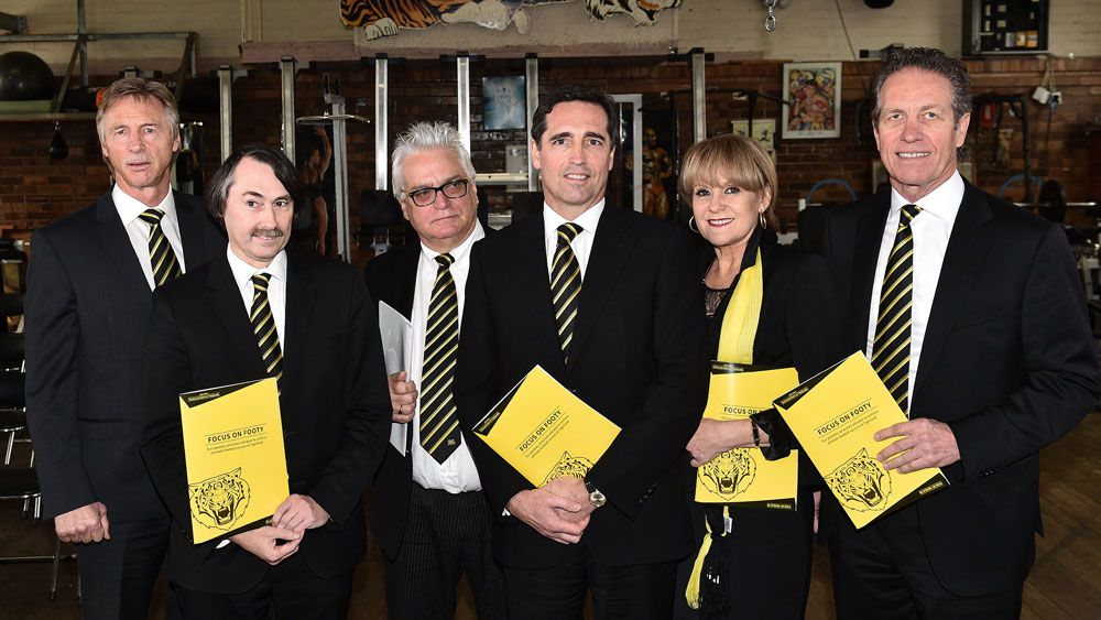 The Focus on Footy had called for a board spill at Richmond. (AAP)