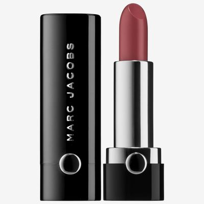 """<a href=""""http://www.sephora.com.au/products/marc-jacobs-le-marc-lip/v/gorgeous-222-b1d7e58e-f5cb-49ff-9d16-d40bd6d8801c"""" target=""""_blank"""">Marc Jacobs Beauty Le Marc Creme Lipstick Kiss Kiss Bang Bang in Baked Rose, $43.</a>"""
