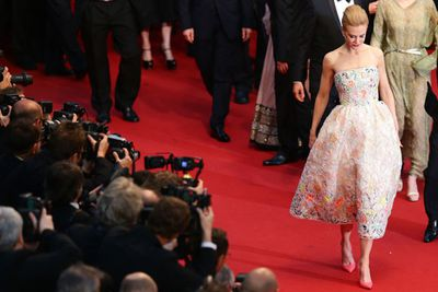 Nicole was neon-accented perfection in this Dior Haute Couture number.