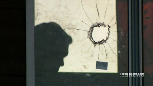 At least two of the bullets went straight through second-storey windows. (9NEWS)