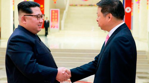 Kim Jong Un has met with a high-ranking Chinese diplomat, Song Tao, in Pyongyang (AAP)