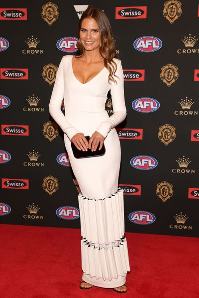 Emma Giles, wife of St Kilda's Jarryn Geary at the 2018 Brownlow Medal, September, 2018