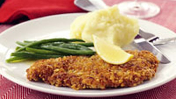 Pine nut crusted veal