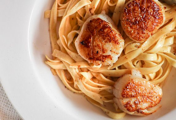 Liliana Battle's scallops with lemon tagliatelle