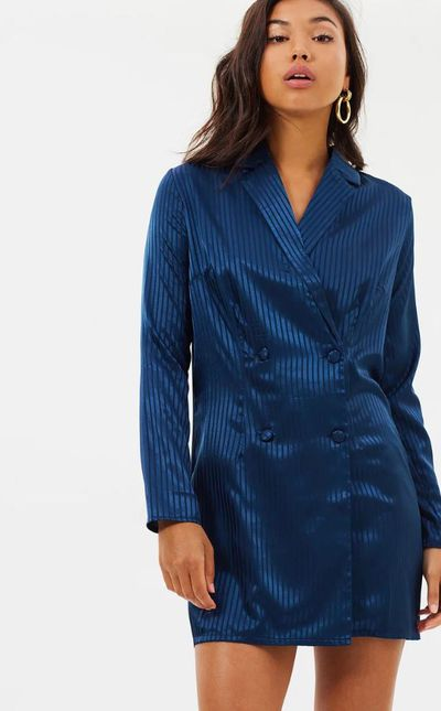 "<a href=""https://www.theiconic.com.au/satin-striped-blazer-shift-dress-614529.html?utm_source=google&amp;utm_medium=au_sem_nonbrand&amp;utm_content=Value%20Based%20Bidding%20(Test)&amp;utm_campaign=AU_Shopping_ICONIC_Sale_NC&amp;utm_term=PRODUCT%20GROUP&amp;gclid=EAIaIQobChMIodrN2PWI2wIViCQrCh0aAgwXEAQYBiABEgKv4fD_BwE&amp;gclsrc=aw.ds"" target=""_blank"">MissGuided&nbsp;Satin Striped Blazer Shift Dress</a>, $74.95"