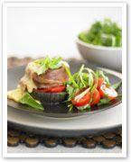 Beef and eggplant stacks