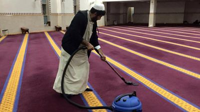 "<p>They also thanked one of their ""most dedicated volunteers"" Hajj Jasim who helped clean the mosque every night throughout Ramadan and in preparation for the today's celebrations. </p> <p>""We are blessed to have these silent heroes amongst us. May Allah reward him for his efforts,"" read the caption. (Facebook: Lakemba Mosque)</p>"