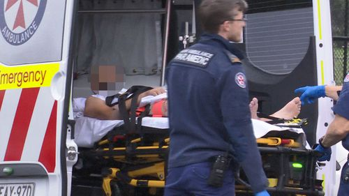 The man was taken to Westmead Hospital in a stable condition.