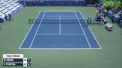 Aussie Matthew Ebden's opponent Vasek Pospisil unleashes 'banana breaking' racquet tantrum